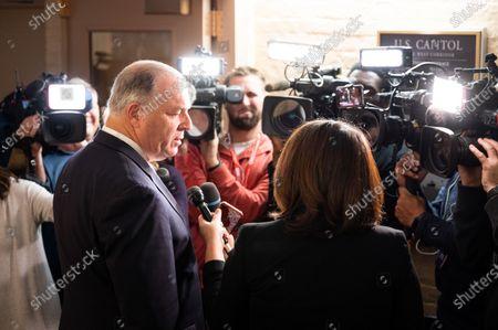 U.S. Representative Dan Kildee (D-MI) speaks at a Post Democratic Caucus press conference.