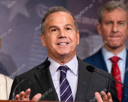 U.S. Representative David Cicilline (D-RI) speaks at a Democratic press conference on the U.S. Senator Mitch McConnell's (R-KY) legislative agenda.