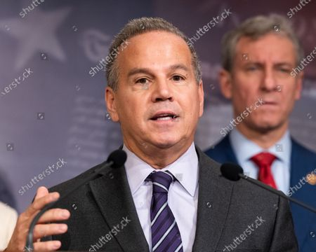 Stock Photo of U.S. Representative David Cicilline (D-RI) speaks at a Democratic press conference on the U.S. Senator Mitch McConnell's (R-KY) legislative agenda.