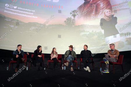 Mike Moh, Sarah Margaret Qualley, Julia Butters, Brad Pitt and Leonardo DiCaprio