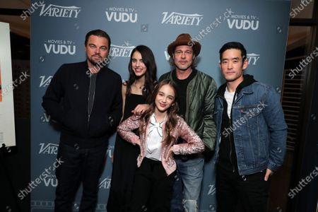 Leonardo DiCaprio, Sarah Margaret Qualley, Julia Butters, Brad Pitt and Mike Moh