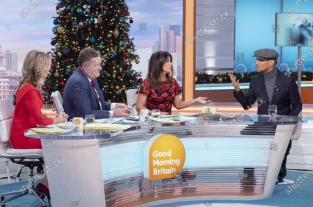 Charlotte Hawkins, Piers Morgan and Susanna Reid with Matt Goss