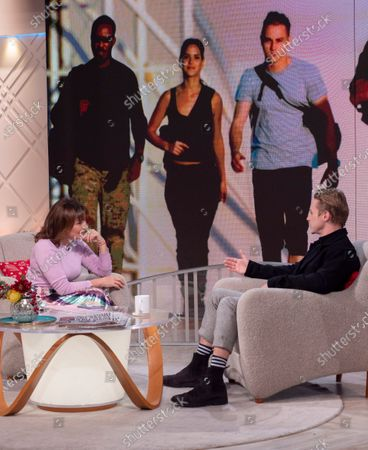 Stock Image of Lorraine Kelly and Ben Hardy