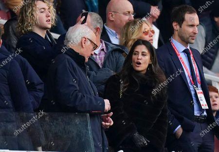Chelsea Director Marina Granovskaia alongside Chairman Bruce Buck and Petr Cech