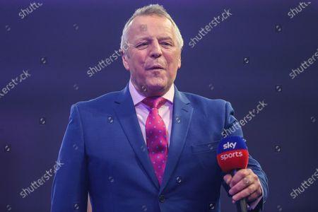 MC John McDonald during the PDC William Hill World Darts Championship at Alexandra Palace, London