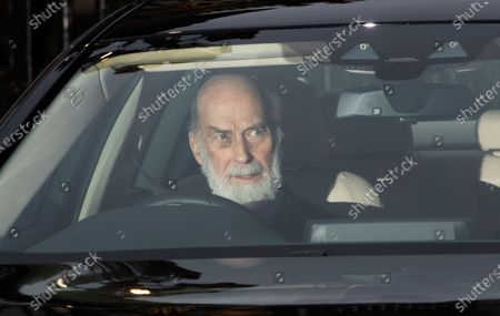 Britain's Prince Michael of Kent leaves Buckingham Palace for the traditional Queen's Christmas lunch in London, Britain, 18 December 2019.