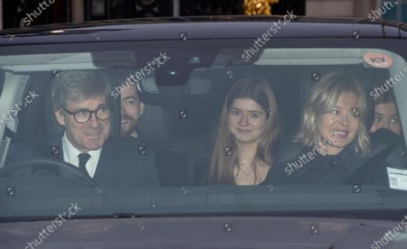 Lady Helen Taylor, her husband Timothy and daughter Estella leave Buckingham Palace for the traditional Queen's Christmas lunch in London, Britain, 18 December 2019.