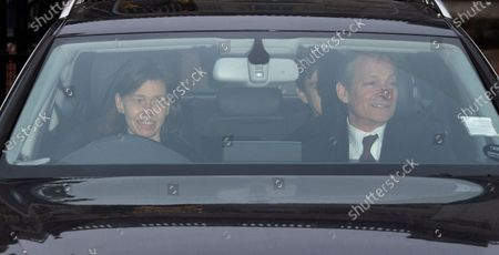 Lady Sarah Chatto and Daniel Chatto (R) leave Buckingham Palace for the traditional Queen's Christmas lunch in London, Britain, 18 December 2019.