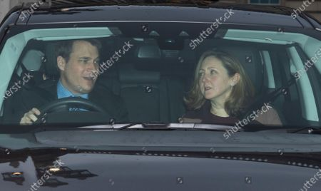 Stock Picture of The Earl and Countess of Ulster leave Buckingham Palace for the traditional Queen's Christmas lunch in London, Britain, 18 December 2019.