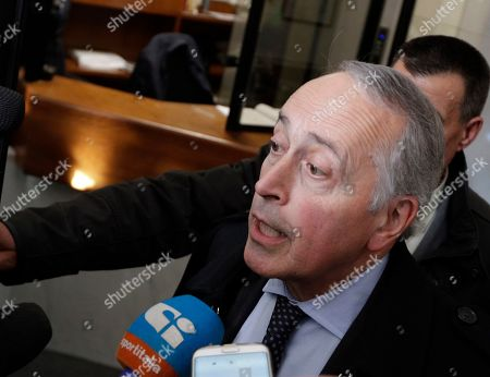 Stock Image of Taken on Nov. 20, 2017, Giancarlo Abete arrives for a meeting at the Italian Football Federation headquarters in Rome. Former Italian football federation president Giancarlo Abete was named emergency commissioner of Serie A on . Abete was selected at a federation board meeting, a day after previous commissioner Mario Cicala resigned from the job