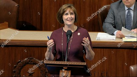 Rep. Kathy Castor, D-Fla., speaks as the House of Representatives debates the articles of impeachment against President Donald Trump at the Capitol in Washington