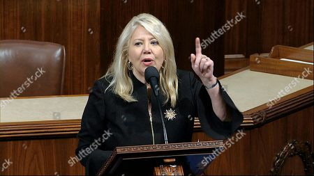 Rep. Debbie Lesko, R-Ariz.,speaks as the House of Representatives debates the articles of impeachment against President Donald Trump at the Capitol in Washington