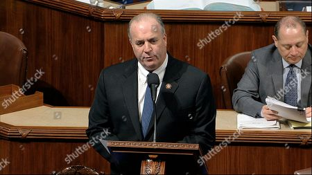 Rep. Dan Kildee, D-Mich., speaks as the House of Representatives debates the articles of impeachment against President Donald Trump at the Capitol in Washington