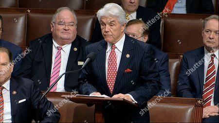 Rep. Roger Williams, R-Texas, speaks as the House of Representatives debates the articles of impeachment against President Donald Trump at the Capitol in Washington