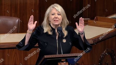 Rep. Debbie Lesko, R-Ariz., speaks as the House of Representatives debates the articles of impeachment against President Donald Trump at the Capitol in Washington