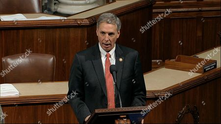 Rep. Tom Rice, R-S.C., speaks as the House of Representatives debates the articles of impeachment against President Donald Trump at the Capitol in Washington