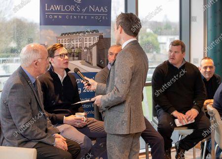 Trainers Ted Walsh Joseph O'Brien, Martin Brazill and Gordon Elliott with Thom Malone