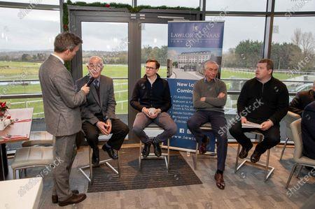 Trainers Ted Walsh, Joseph O'Brien, Martin Brazill and Gordon Elliott with Thom Malone