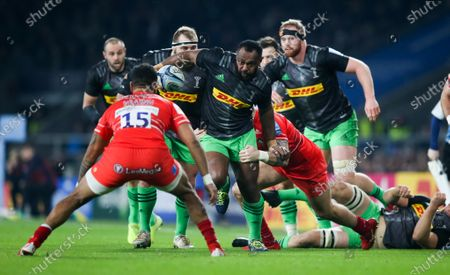 Editorial image of Harlequins v Leicester Tigers, Gallagher Premiership, Rugby Union, Twickenham, London, UK - 28 Dec 2019