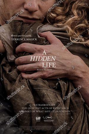A Hidden Life (2019) Poster Art. August Diehl as Franz Jägerstätter and Valerie Pachner as Fani Jägerstätter