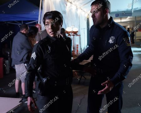 Angela Bassett as Athena Grant and Ryan Guzman as Eddie Diaz