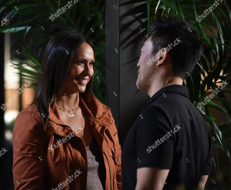 Stock Picture of Jennifer Love Hewitt as Maddie Kendall and Kenneth Choi as Howie 'Chimney' Han