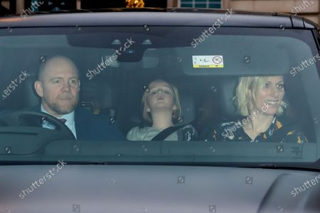 Mike Tindall and Zara Tindall with daughter Mia Grace Tindall