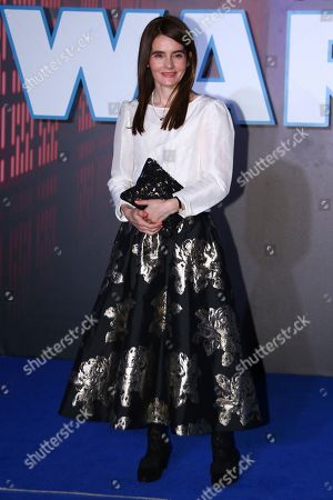 Stock Photo of Shirley Henderson poses for photographers upon arrival at the premiere for the film 'Star Wars: The Rise of Skywalker', in central London