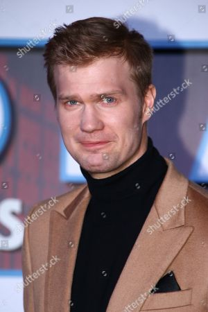 Joonas Suotamo poses for photographers upon arrival at the premiere for the film 'Star Wars: The Rise of Skywalker', in central London