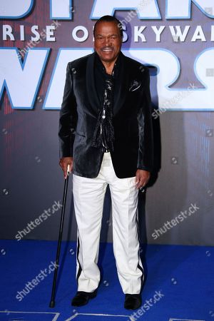Billy Dee Williams poses for photographers upon arrival at the premiere for the film 'Star Wars: The Rise of Skywalker', in central London