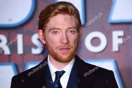 Domhnall Gleeson poses for photographers upon arrival at the premiere for the film 'Star Wars: The Rise of Skywalker', in central London