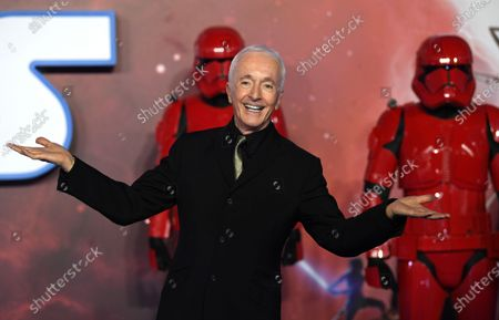 British actor/cast-member Anthony Daniels attends the European Premiere of 'Star Wars: The Rise of Skywalker' at Leicester Square in London, Britain, 18 December 2019. The film will be release in UK Cinemas on 19 December 2019.