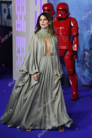 US actress/cast-member Keri Russell attends the European Premiere of 'Star Wars: The Rise of Skywalker' at Leicester Square in London, Britain, 18 December 2019. The film will be release in UK Cinemas on 19 December 2019.