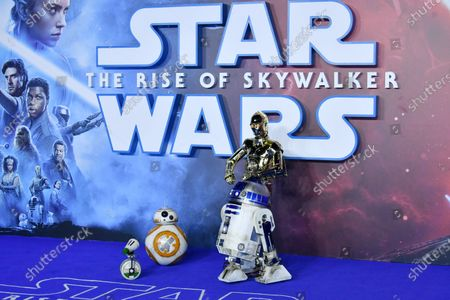 D-O, BB-8, R2-D2 and C-3PO