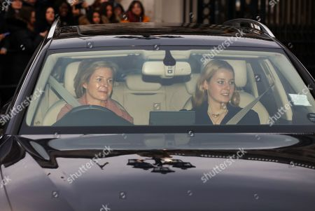 Stock Picture of Lady Serena Armstrong-Jones and Lady Margarita Armstrong-Jones (right), arrives for the Royal family attend The Queen's annual Christmas lunch.