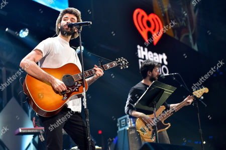 Jack Met of AJR performs during 103.5 KISS FM's Jingle Ball at the Allstate Arena, in Rosemont, Ill