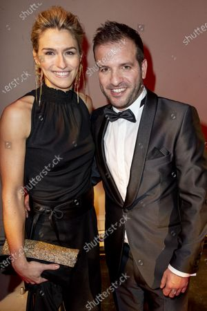 Stock Picture of Rafael van der Vaart and Estavana Polman