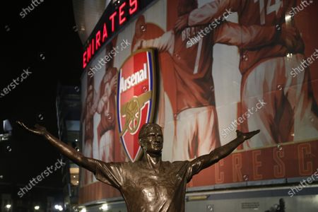 Stock Picture of A statue of Tony Adams outside the Emirates Stadium