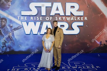 Joonas Suotamo, Milla Pohjasvaara. Joonas Suotamo and Milla Pohjasvaara pose for photographers upon arrival at the premiere for the film 'Star Wars: The Rise of Skywalker', in central London