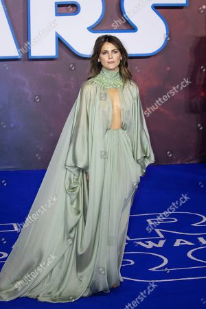 Keri Russell poses for photographers upon arrival at the premiere for the film 'Star Wars: The Rise of Skywalker', in central London