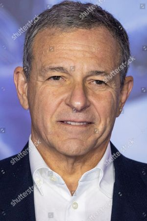 Chairman and Chief Executive Officer (CEO) of The Walt Disney Company Bob Iger poses for photographers upon arrival at the premiere for the film 'Star Wars: The Rise of Skywalker', in central London