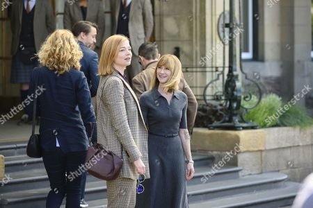 Stock Image of Sarah Snook as Shiv Roy and Holly Hunter as Rhea Jarrell