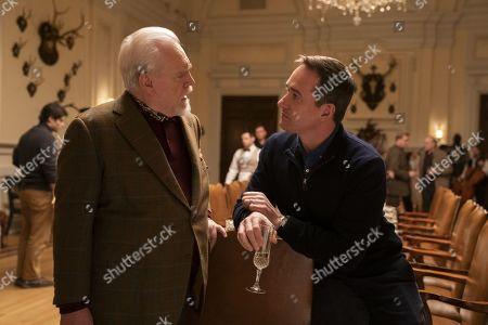 Brian Cox as Logan Roy and Matthew Macfadyen as Tom