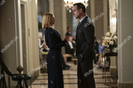 Sarah Snook as Shiv Roy and Matthew Macfadyen as Tom