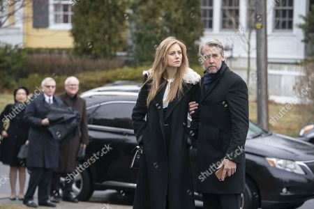 Justine Lupe as Willa and Alan Ruck as Connor Roy