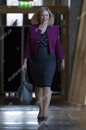 Stock Photo of Gillian Martin makes her way to the Debating Chamber.