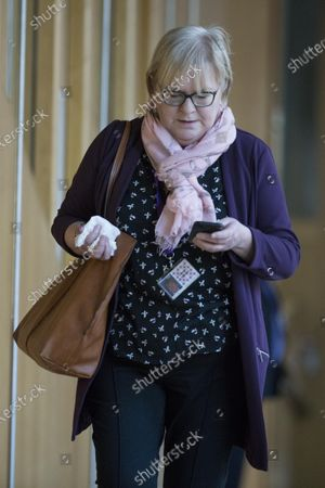 Johann Lamont, makes her way to the Debating Chamber.