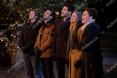 Stock Photo of Denis Leary as Sean Moody Sr., Jay Baruchel as Sean Moody Jr., Francois Arnaud as Dan Moody, Chelsea Frei as Bridget Moody and Elizabeth Perkins as Ann Moody
