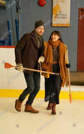 Stock Photo of Francois Arnaud as Dan Moody and Maria Gabriela de Faria as Cora