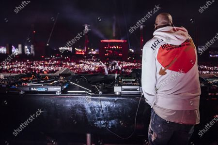 Stock Image of Black Coffee performs during MDL Beast, a three day festival in Riyadh, Saudi Arabia, bringing together the best in music, performing arts and culture.